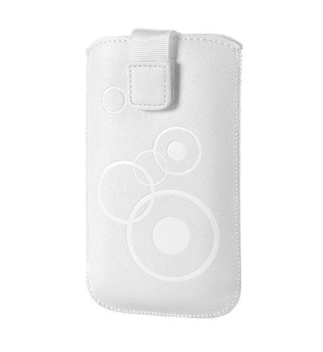 Handytasche Circle passend für Emporia Talk Comfort Handy Schutz Hülle Slim Hülle Cover Etui Weiss mit Klettverschluss