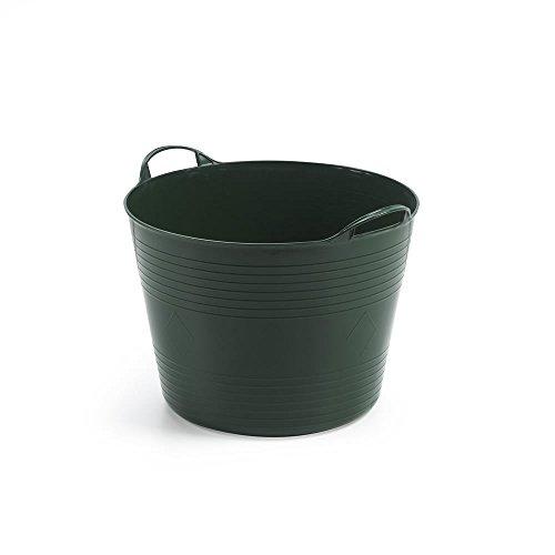 Kreher Mehrzweckkorb für 42 Liter mit Füllstandsanzeige, flexibel und strapazierfähig (Grün)