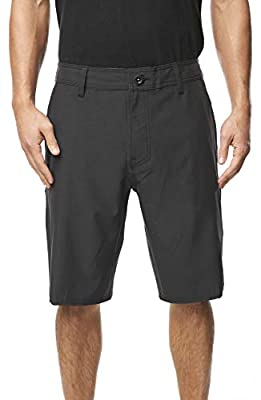 O'NEILL Men's Water Resistant Hybrid Walk Short, 21 Inch Outseam (Black/Reserve, 34) by O'Neill