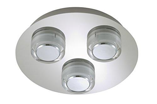 Briloner Leuchten Badezimmerlampe, LED Badlampe, Badleuchte, Badezimmerleuchte, Badleuchten Decke, Badlampe Decke, Badezimmerlampe Decke, Badleuchten Wand, Badlampe Spiegel, Badlampe Wand
