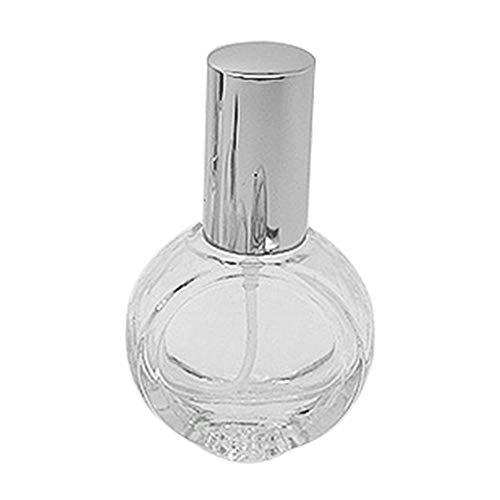 RIsxffp Flacons de spray réutilisables en verre pour pompe à vaporisateur Rechargeable Parfum de voyage Argenté 10 ml