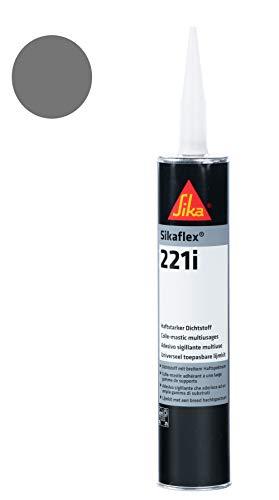 Sikaflex 221i vielseitig anwendbarer, haftstarker Dichtstoff 300ml stahlgrau