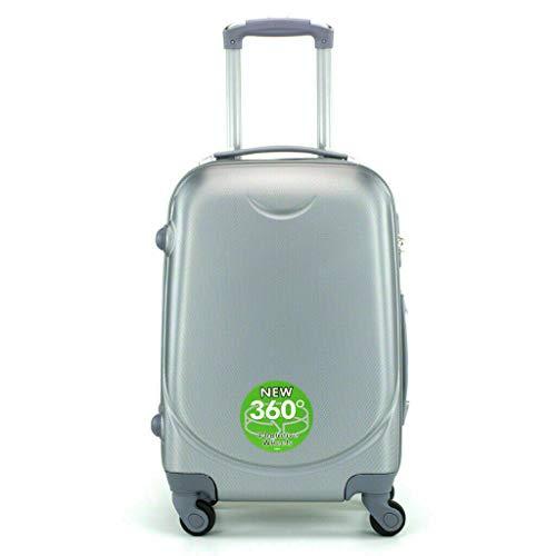 Maleta 4 Ruedas 360º Equipaje para FACTURAR Viajar Viaje 65x45x35cm Gris