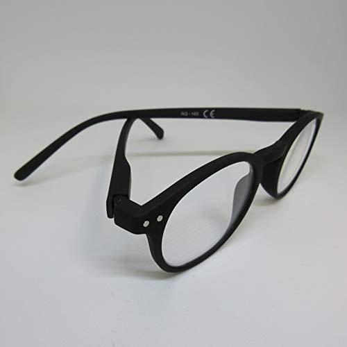 Kost leesbril +3,0 zwart voor hem & haar leeshulp met flexibele beugel & etui
