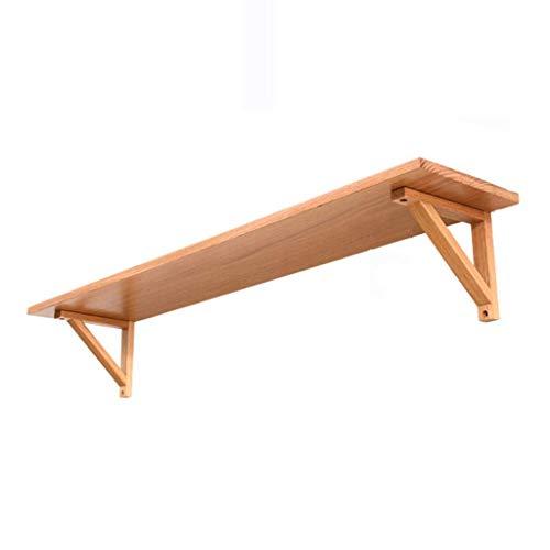 Household planken voor rekken woonkamer slaapkamer floating planken Nordic solide muur van hout wandplank plank om op te hangen 120CM*20CM*16CM Geel