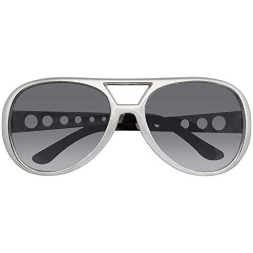 Emblem Eyewear - Rockstar Sunglasses Costume Party Novelty Sunglasses 60's Rock Star Classic Retro Sunglasses (Silver)