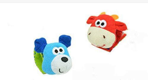 YUY Calcetines con muñequera de Animales para bebés con sonajeros Educación temprana Inteligencia Animal recién Nacido Juguete de Peluche, bearbullwristbands