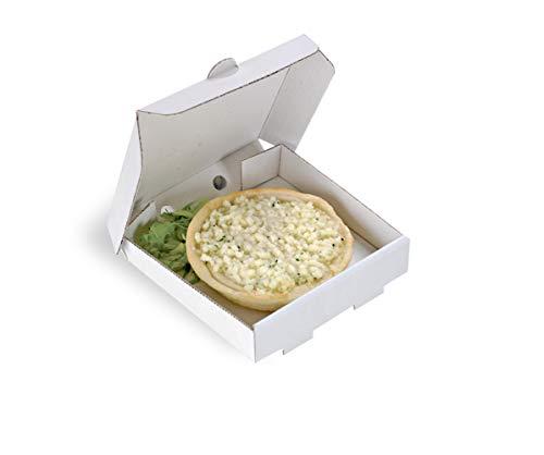 PacknWood Square Cardboard Mini Pizza Box, 3.5' x 3.5' (Case of 500) - White - 210MINIPIZZ