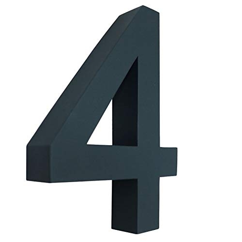 4 Hausnummer 3D anthrazit RAL7016 Edelstahl V2A rostfrei wetterfest Höhe 20cm inkl. Montagematerial erhältlich 0 1 2 3 4 5 6 7 8 9 a b c d