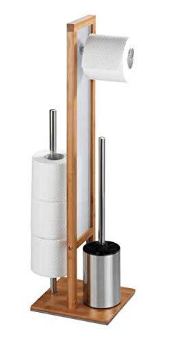WENKO Stand Toilettenbürste Rivalta Bambus
