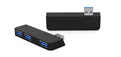 Juiced Systems Surface Pro 3 - USB HUB Adapter : 3X USB 3.0 Ports - 1x Micro USB Input