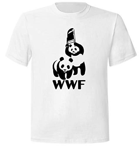 WWF Steel Chair Panda (WWE) White Premium T-Shirt
