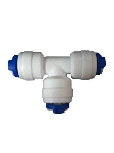 Nature's Water Raccord en T pour système d'osmose inverse ou tuyaux de filtre de réfrigérateur 6,35 mm
