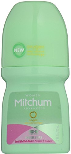Mitchum Women Invisible Roll-On, Powder Fresh 1.7 oz (Pack of 2)