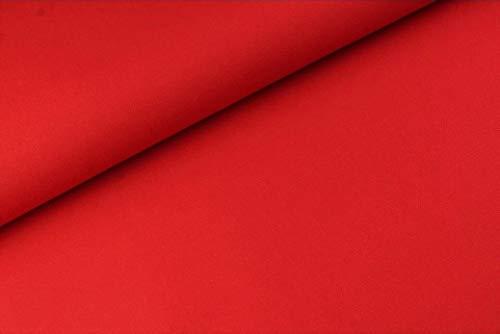Canvas -Uni/einfarbig - Meterware - Ökotex - 0,25 m- 360g/m Webware - Baumwollstoff (Rot)