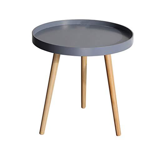 Nordic woonkamer kleine salontafel slaapkamer bed kleine tafel ronde mini nachtkastje eenvoudig massief hout modern creatief