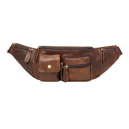 TENDYCOCO Fanny Pack Running Belt Bag Money Belt Festival Bumbag lederen portemonnee voor vrouwen en mannen - Chocolade