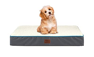 SunStyle Home Orthopedic Foam Dog Bed for Small & Medium Dogs Up to 50lbs with Waterproof Removable Cover, Mattress Pet Mat Bed for Dogs & Cats - Orthopedic Egg Crate Foam Platform
