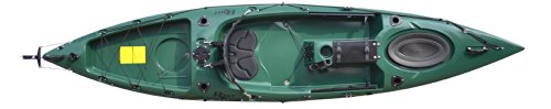 Riot Kayaks Escape 12 Angler Sit-On-Top Flatwater Fishing Kayak, Forest, 12-Feet
