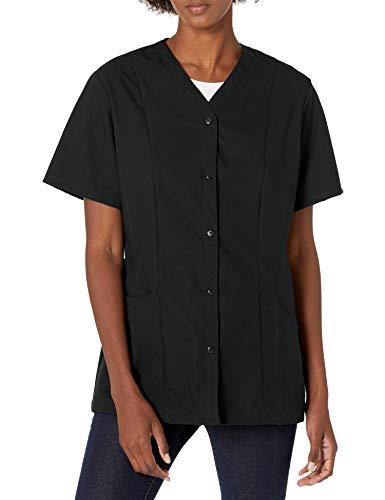Red Kap Women's Plus Size Easy Wear Tunic with Princess Seam, Black, 4X-Large