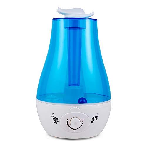 ZUEN Luftbefeuchter Aroma Oil Diffuser 3L 25W 110-240V LED Aroma Ultraschallnebel Luftbefeuchter Aromatherapie Ultraschallnebelhersteller Blau