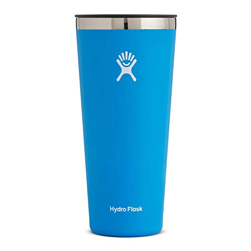 Hydro Flask Tumbler Cup - Stainless Steel & Vacuum Insulated - Press-In Lid - 32 oz, Pacific