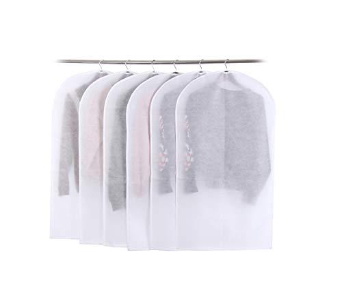 Housses de Vêtements,Couverture de protection Transparent Anti-Poussière Housse Costume avec zip Lot de 6(60×100cm )