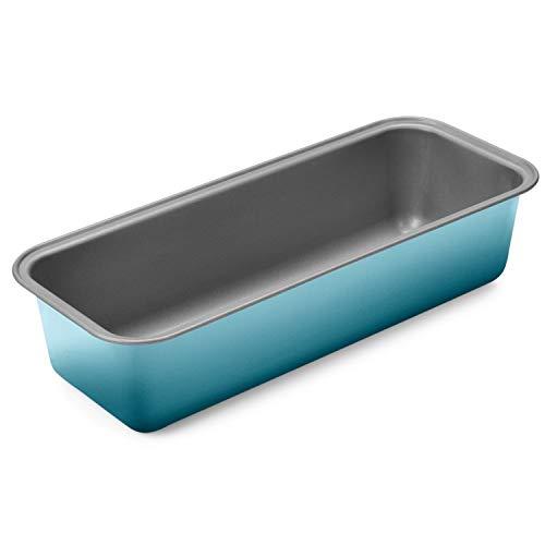 Kaiser Living Color Backform Kastenform 30 x 11 x 8 cm, Königskuchenform antihaftbeschichtet, Kastenform Kuchen, Brote, gleichmäßige Bräunung, blau