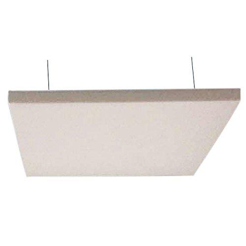 Horch Akustik Deckensegel, Schallabsorber, mit Aufhängung, unterschiedliche Größen, 4000g/m², 120 x 120 x 5 cm weiß