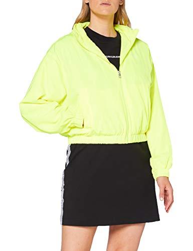 Calvin Klein Jeans Damen Back Logo Windbreaker Jacke, Yellow, M
