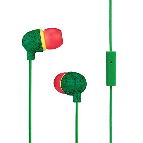 House of Marley Little Bird, In-Ear Kopfhörer, integriertes Mikrofon, Geräuschisolierung, 9mm Treiber, zwei Ohrstöpselgrößen für optimalen Sitz, nachhaltig produzierter Sound, Rasta