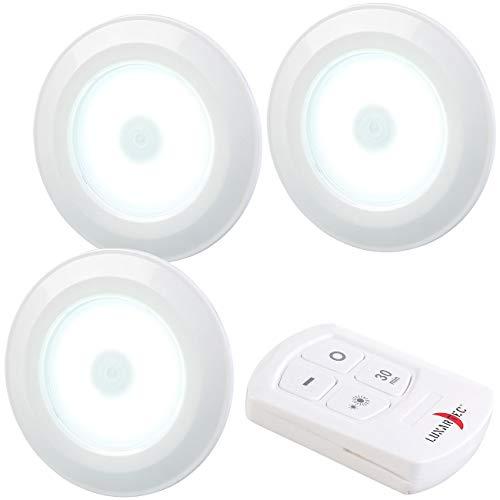 Lunartec LED Batterie Leuchten: 3er-Set superhelle COB-LED-Unterbauleuchten, Timer, 120lm, erweiterbar (LED Fernbedienung)