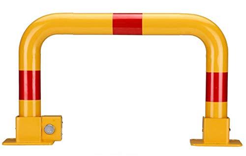 Rocwing - Tarea pesada Plegar Bolardo de metal para Seguridad Entrada de coches Estacionamiento (Narrow Soccer)