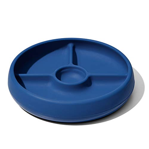 OXO Tot Silicone Divided Plate Navy