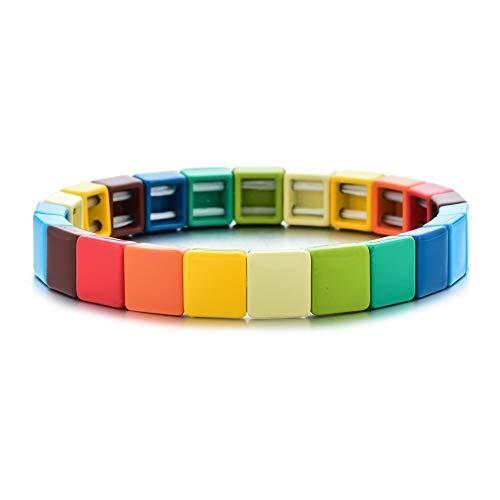 GJKKGJK Pulsera De Invierno Pulseras Elásticas Multicolores para Mujer