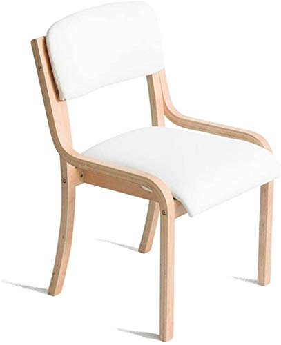 Sgabello Scaletta Pieghevole Sgabello familiare semplice - Sedia in legno con schienale che può essere utilizzato per la sedia per il trucco da tavolo da pranzo per la casa e il bianco commerciale sti