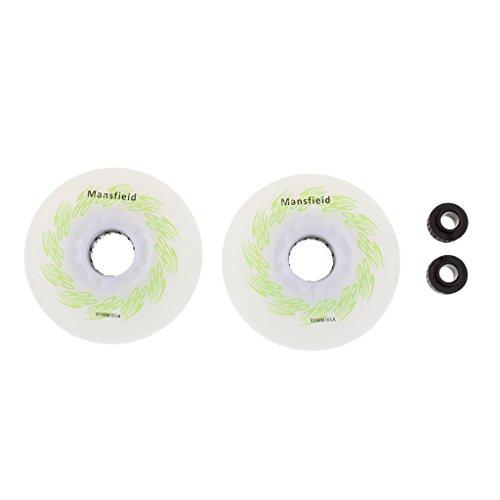 Sharplace 2 Piezas de Ruedas Patines LED con Núcleo Magnético Repuesto - Verde