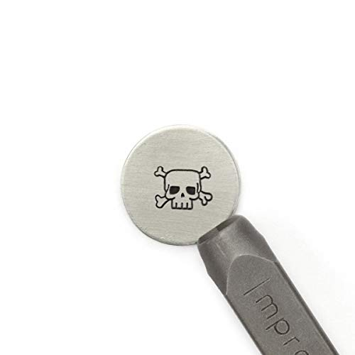 ImpressArt - Skull & Crossbones Signature Metal Design Stamp, 6mm