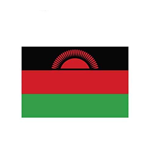 12Cm * 7.7Cm Auto Styling Malawi Flagge Zubehör Aufkleber Fenster Auto Aufkleber