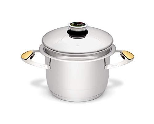 Zepter Masterpiece CookArt Topf - 4,2 l, Ø20 cm - Kochen ohne Wasser oder Braten ohne Fett möglich Dampfgaren Ofenbeständig Spülmaschinenfest 30 Jahre Garantie! Topf Geschirr Kochen Braten Küche