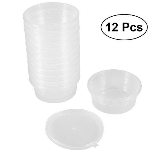 ROSENICE Slime Lagerbehälter Schaumstoff Ball Kunststoffbox Lagerbehälter mit Deckel für 20g Schlamm 12 Pack