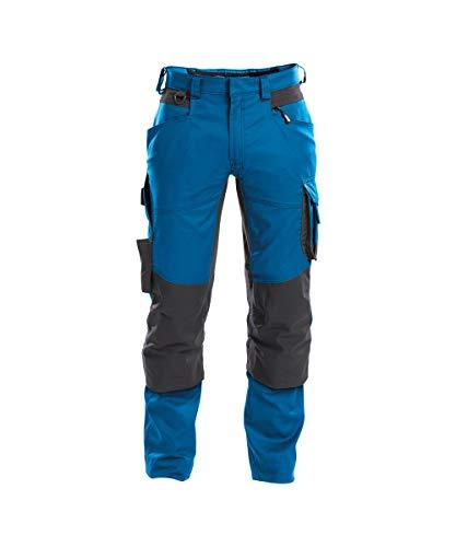 DASSY® Dynax Bundhose mit Stretch und Kniepolstertaschen DASSY D-FLEX PESCO 41 AZURBLAU/ANTHRAZITGRAU 52