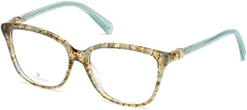 SWAROVSKI Eyeglasses SK5242 084 Shiny Light Blue