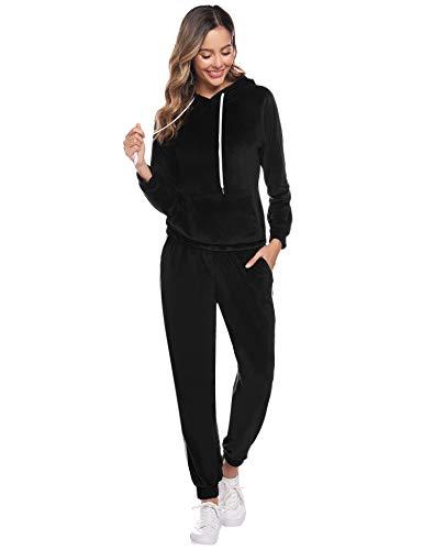 Casual Camisas de Manga Larga Hoodie Chaqueta Deportes y Aire Libre Fitness Fannyfuny Mujer Conjunto de Ch/ándal Pantalones Mallas Ajustadas