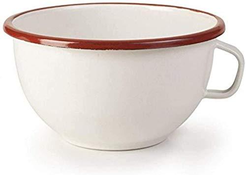 Ibili 909114 Bowl avec Anse, Acier, Blanc/Rouge, 14 cm