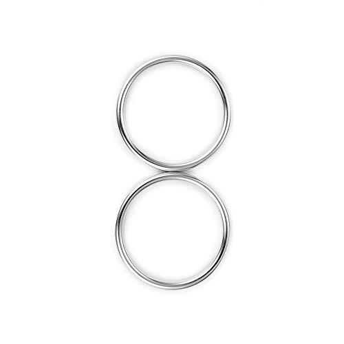 topind 7,6cm Größe Alumnium Baby Sling Ringe für Babyschalen & Tragetücher von 2Pcs helles Silber