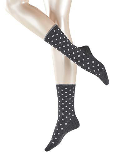 ESPRIT Damen Socken Melange Dot - Baumwollmischung, 1 Paar, Schwarz (Black 3000), Größe: 39-42