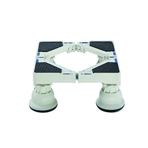 Base MóVil De Lavadora con 4 Ruedas Soporte para Secadora y Refrigerador Ajustable De 42cm-67cm Multiuso ZóCalo Para Secadora AntivibracióN De Bajo Ruido Carro - 300kg