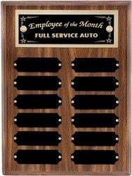 Walnut Plaque Award - 8