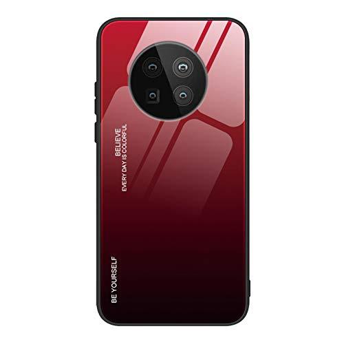 GOGME Hülle für Huawei Mate 40 Pro Hülle, Farbverlauf-Glas Back Cover Handyhülle, Ultra Thin Tasche Cover TPU Silikon Grenze Shock Absorption Stoßfest Hülle Schutzhülle(5)